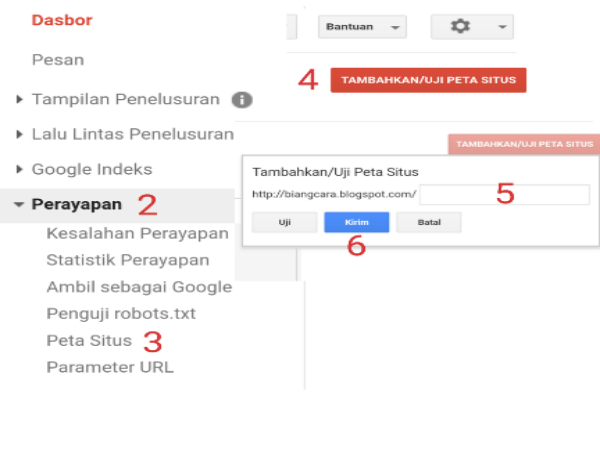 Cara Membuat Peta Situs dan Mengirim Peta Situs