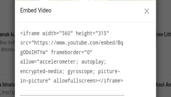 Cara Menambahkan Video Di Postingan WordPress Menggunakan Embed