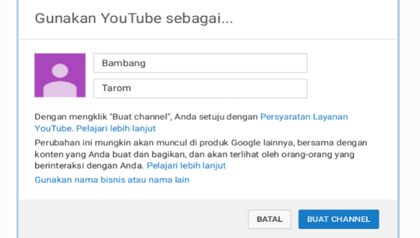 Cara Membuat Channel YouTube