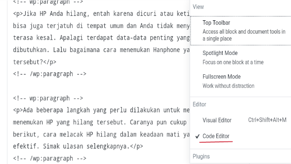 Cara Membuat Link Nofollow di WordPress Gutenberg
