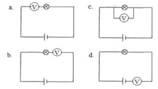 Manakah dari Rangkaian Berikut yang Menunjukkan Pemasangan Voltmeter