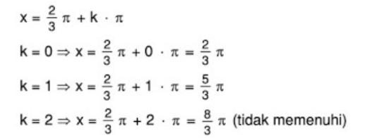 Himpunan Penyelesaian dari tan x