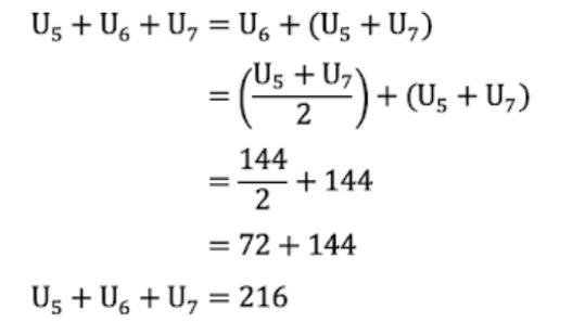 Jumlah Suku ke- 5 dan Suku ke- 7