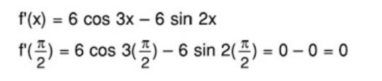 Diketahui f(x) = 2 sin 3x + 3